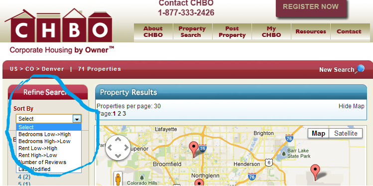 CHBO Search screenshot