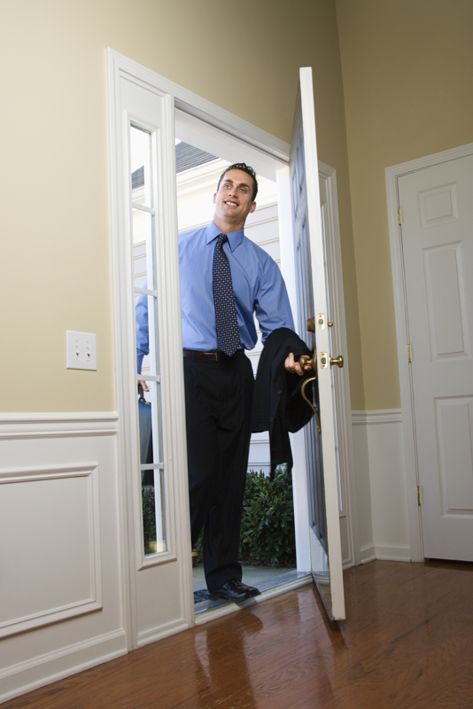 Man entering a corporate rental